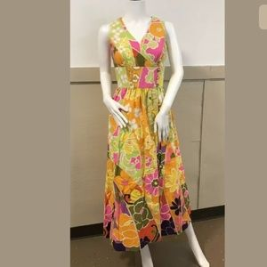 Tori Richard Dresses - Tori Richards Vtg 8 Maxi 1970s Hippe Dress Sz Sm